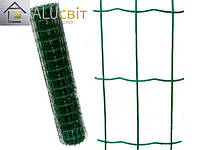 Сварная сетка 50х100 в рулонах с ПВХ 2 м х 25 метров, для забора, ограждения