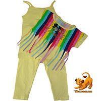 """Летний детский костюм-тройка """"Carnaval"""" , для девочки (4-5-6 лет) 3 ед. в уп."""