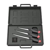 Набор ножей DAM 4 предмета (3 филейных ножа + точилка) в чемодане