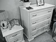 Комод классический деревянный Лиана/Мрия цвет белый