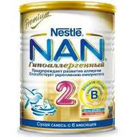Cмесь Nestle NAN Гипоаллергенный 2 с 6 месяцев 400 г NAN 1000237