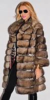 Красивая шубка с  капюшоном , из меха соболя Sara