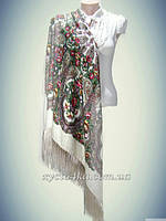 Шерстяные платки с бахромой