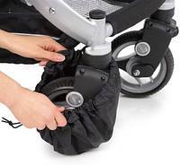 Защитный чехол-мешочек  для поворотных колес коляски или велосипеда. Ткань спанбонд. Оптом
