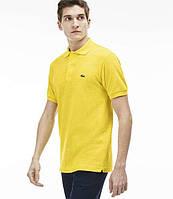 Мужская футболка поло Lacoste Yellow (реплика), фото 1