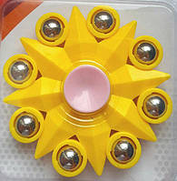Спиннер желтый восьмиконечная звезда Антистресс Непоседа Hand Spinner