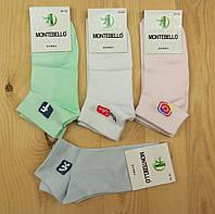 Носки женские с сеткой короткие Montebello Турция бамбук 36-40рНЖЛ-161
