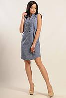 Платье-рубашка Лайм-Джинс Ri Mari принт листики