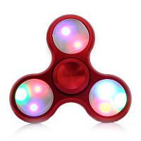 Спиннер хромированный светящийся красный Антистресс Hand Spinner