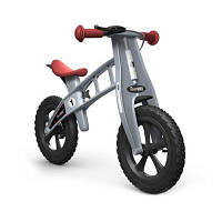 Firstbike Беговел Cross with brake цвет: серебряный