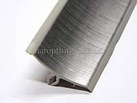 Плинтус для столешниц Thermoplast  132 Хром структурный