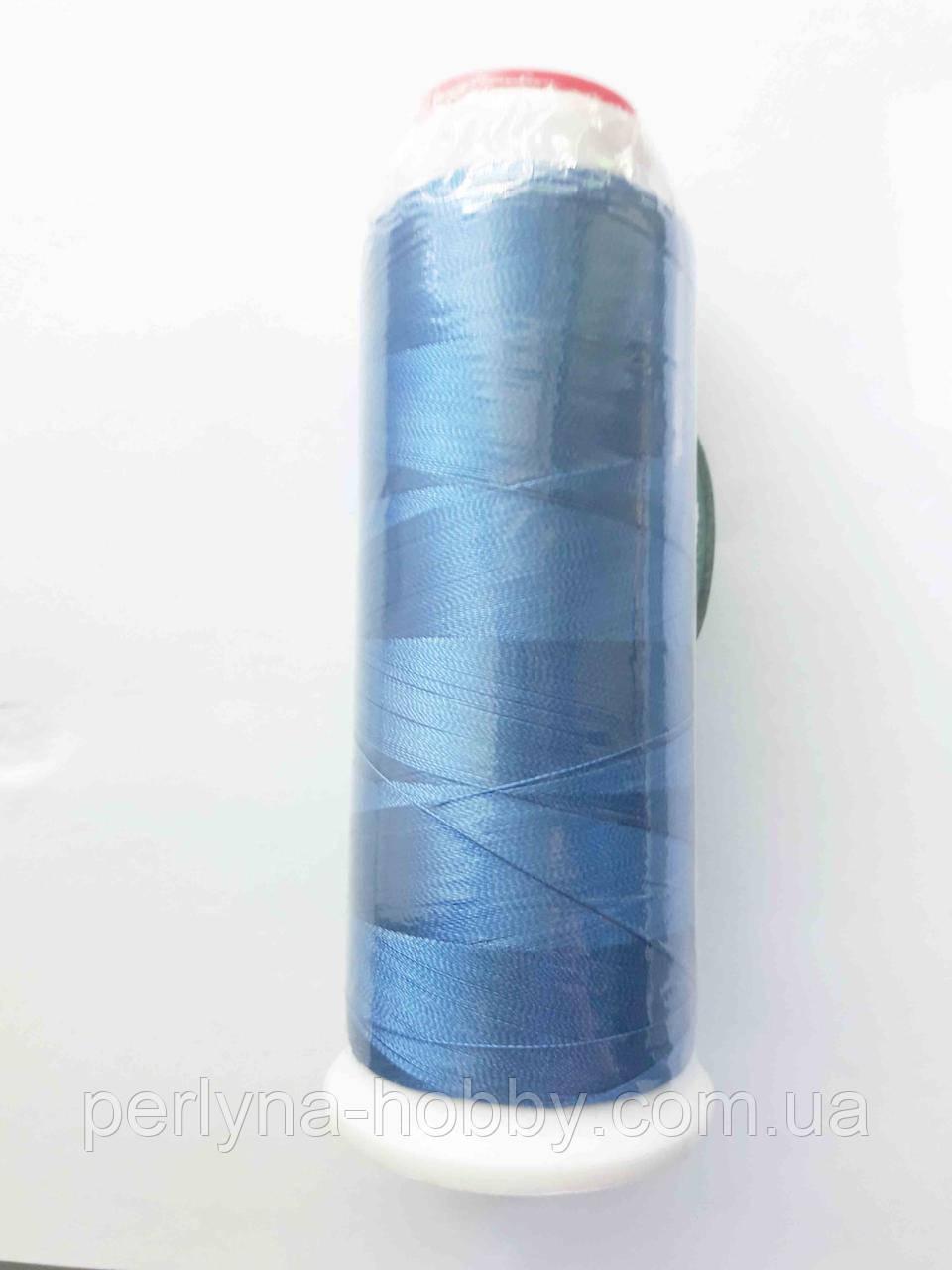Нитки для машинної вишики 100% віскоза (100% rayon) 3000 ярдів, темний голубий