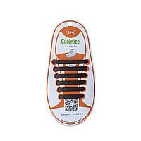 Детские силиконовые шнурки Коричневые, фото 1