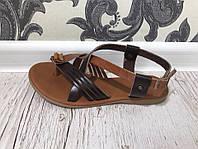 Женские сандали на плоском ходу римские ЭКО кожа в розницу Одесса 7 км со склада в наличии