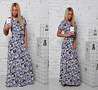 Платье в пол с бабочками