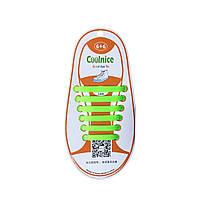 Детские силиконовые шнурки Зеленые
