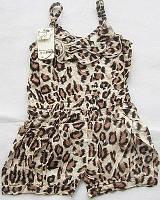 Летний комбинезон леопардовый для девочки 6-12 мес