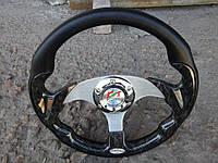 Руль спортивный №821 (черное дерево) с переходником на ВАЗ 2115..
