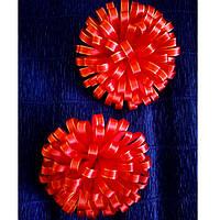 Резинка для волос Канзаши Цветок хризантемы красный