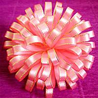 Резинка для волос Канзаши Цветок хризантемы розовый