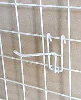 Крючёк на сетку (10 см. одинарный. металлопластик. прут-3.3 мм)