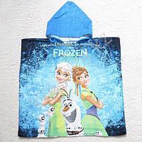 Полотенце-пончо с капюшоном Холодное сердце-3