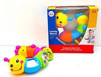 """Игрушка Huile Toys """"Веселый Червячок"""" , игрушка погремушка"""