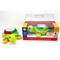 """Игрушка-сортер Huile Toys """"Черепаха"""" (596), музыкальная игрушка для маленьких"""