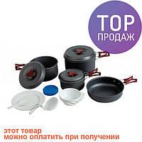 Набор посуды из анодированного алюминия Tramp TRC-026/туристическая посуда