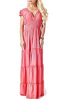 Трикотажное летнее платье в пол (09 br)