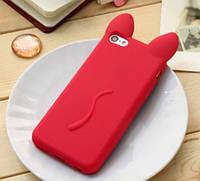 Чехол силиконовый Красный кот iphone 5/5S, фото 1