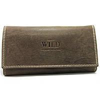 Женский кожаный кошелек Always Wild N20-MH brown, фото 1