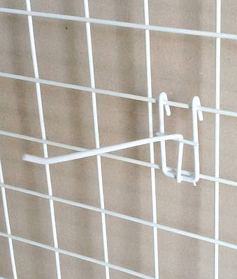 Крючёк на сетку (20 см. одинарный. металлопластик. прут-3.4 мм)