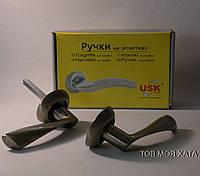 Дверні ручки на розетках модель A-58012 AB USK