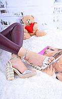 Новинка! Женские босоножки серебро на каблуке, 37р.