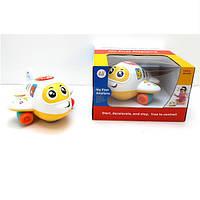 """Игрушка Huile Toys """"Самолетик"""" (6103), обучающие игрушки , музыкальный самолетик"""