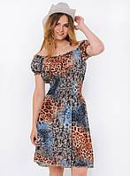 Летнее женское платье-трансформер с ярким принтом 90114/1