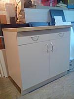 Тумбочка для кухни с ящиками 90 см слоновая кость