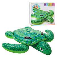 Детский надувной плотик Intex 57524 черепаха, 150-127см, ручки 2шт, возд камеры 2шт, до 40кг