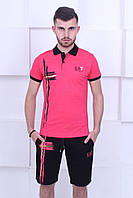 Мужской комплект футболка и шорты в стиле  Armani (Армани)