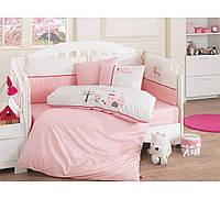 Набор в детскую кроватку с вышивкой Cotton Box Princess Pembe