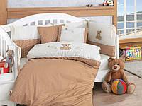 Набор в детскую кроватку с вышивкой Cotton Box Taddy Kahve
