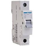 Автоматический выключатель MC116A (1P 6kA C-16A) Hager