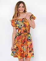 Летнее женское платье-трансформер с ярким принтом 90114/2