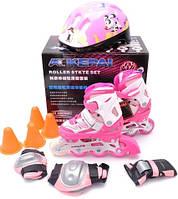 Ролики детские со шлемом и защитой Kepai F1-k9, фото 1