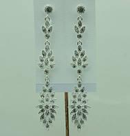 Довгі весільні сережки (Длинные свадебные серьги) 676