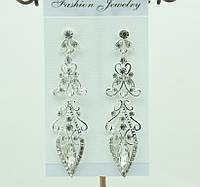 Эксклюзивные свадебные серьги (Ексклюзивні весільні сережки) 679