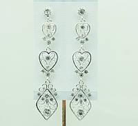 Эксклюзивные свадебные украшения, серьги (Ексклюзивні весільні прикраси, сережки) 680