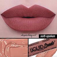 Матовая бархатная помада для губ  Nyx LIQUID SUEDE CREAM Soft-Spoken, фото 1