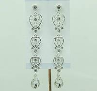 Элитные свадебные серьги (Елітні весільні сережки) 681